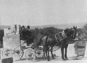 Поштанска кочија Билећа-Требиње 1915 године